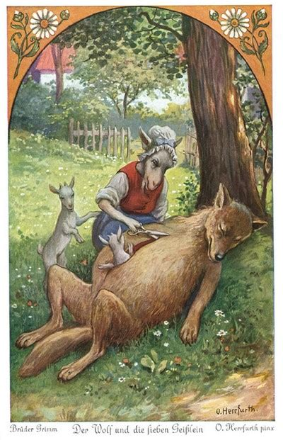 The Wolf and the Seven Young Goats - A Myth Becoming a